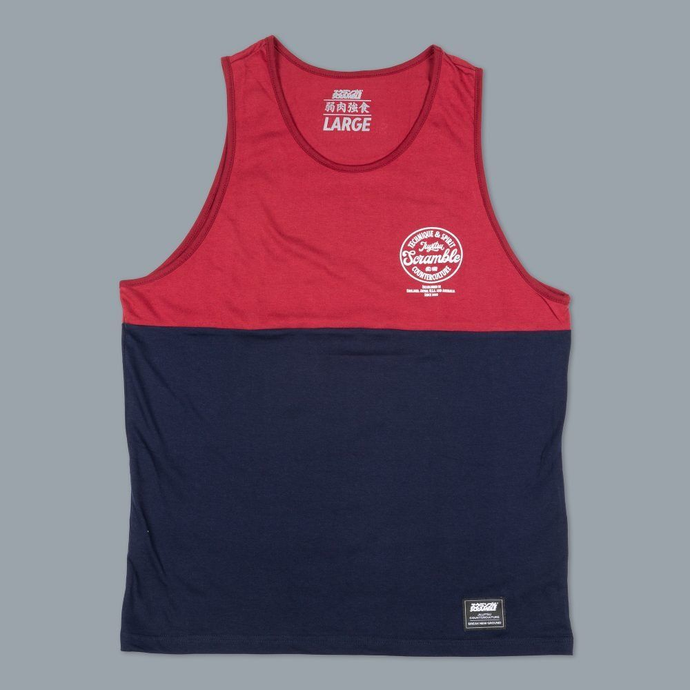 Scramble Technique & Spirit Vest - Red/Navy